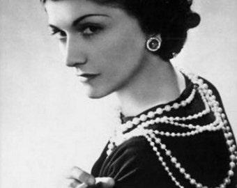 Pearl necklace long vintage tiger eye