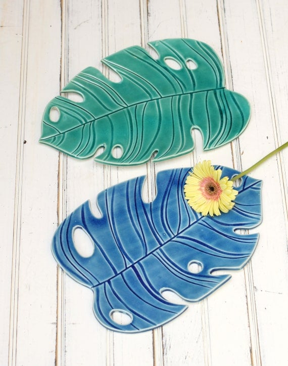 SECONDS SALE large monstera plate
