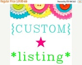 MID SEASON SALE Custom listing for Candice