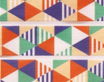 198406 mt Washi Masking Tape deco tape triangles stripes blue orange green