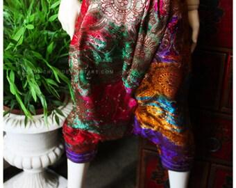 ABJD Dollfie Soom SG Super Gem Vintage Fabric Rainbow Dhoti Pants