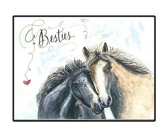 Handmade Friendship Horse Card