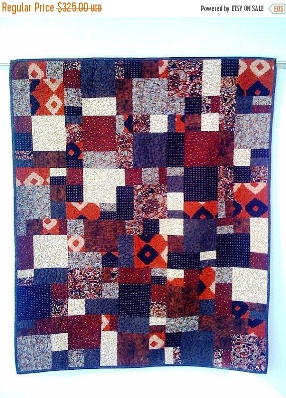 Merry Sale Hot Chocolate, 38 x 45 inch wallhanging quilt, 2008