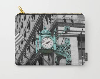 Marshall Fields Clock Photo Carry All Pouch