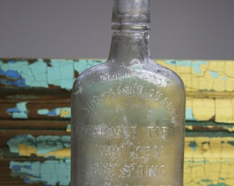 Vintage WHISKEY BOTTLE- Silver Tip Distilling Co. Louisville, KY- Antique Glass Bottle- Antique Liquor Bottle- D70