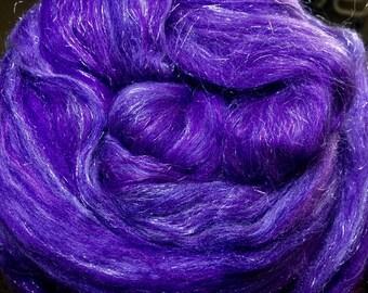 Merino 18.5/Bombyx/Firestar 50/30/20 Combed Top - 5oz - Really Purple