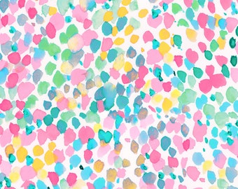 Abstract Watercolor Pastel Fabric - Lighthearted Summer By Mjmstudio - Pastel Cotton Fabric By The Yard With Spoonflower