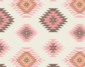 Boho Tribal Fabric - Navajo -Pink Mix By Bohemiangypsyjane - Modern Southwestern Geometric Cotton Fabric By The Yard With Spoonflower
