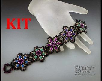 kit- Starburst Bracelet- multicolor- Beadwoven bracelet kit