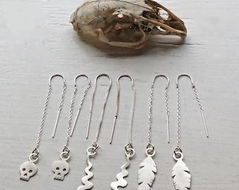 Western Tinies Ear Thread Earrings, Assorted