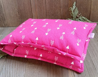 Aromatherapy Neck Pillow Flax Seed Organic Dried Lavender Herbal Scented Therapy Wrap Microwave Heating Pad Wrap Pink Arrows Free Shipping