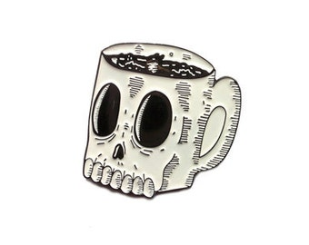 Wolfmask for Blim Coffee Mug of Doom Enamel Pin