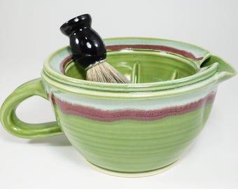 Big Shave Scuttle - Large Scuttle Mug - Stoneware Scuttle - Scuttle Mug - Clay Shaving Scuttle - Clay Shave Scuttle - Clay Scuttle - InStock