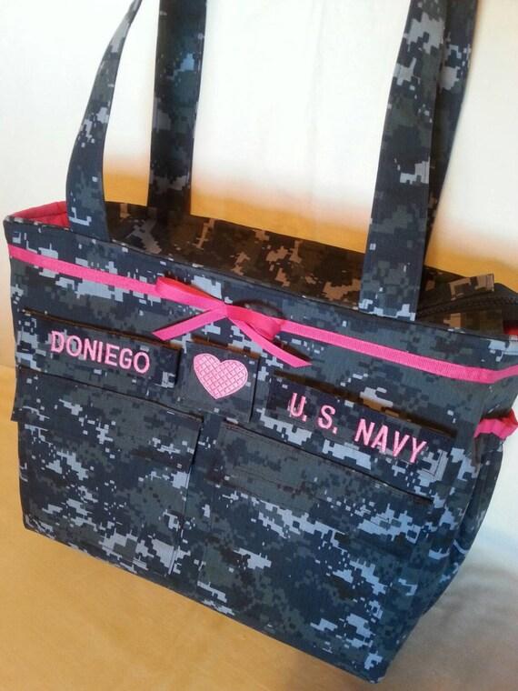 Handmade Diaper Bags : U s navy baby diaper bag handmade custom by bythebayoriginals