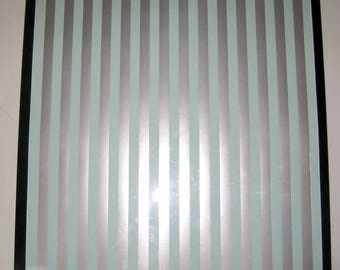 Silver Teal ..Magnet Dry Erase Memo Board /Housewarming Gift / Office Decor / Desk / Organization / Wall Hanging / Message Board / Stripes