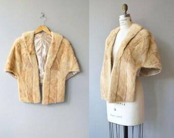 Pale Honey fur stole | vintage 1950s blonde mink stole | 50s fur wrap