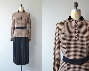 Girl Friday two-piece dress | vintage 1930s dress | two piece 30s suit dress