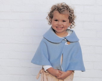Easter Dress Cape - Easter Outfit - Spring Weddings - Flower Girls - Soft Wool Capelet with Peter Pan Collar