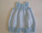 Baby Romper, Knitted Newborn Romper, 0 to 3 Months, Newborn Overall, Take Home Overall, Clothing Newborn, Baby Shower Gift.