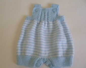 Baby Romper, Knitted Newborn Romper, 0 to 3 Months, Newborn Overall, Take Home Overall, Clothing Newborn, Baby Shower Gift.