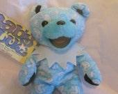 "Grateful Dead Bean Bear Baby Blue Liquid Blue Hang Tag Teddy Bear Matrix Tour Jerry Garcia 7"" Gift"