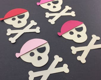 Pirate Skull Leather Die Cuts for craft project, party decoration or card making use. Sold individually or in multiples for volume discounts