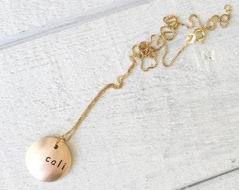 Convex Pendant Necklace
