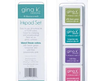 Thermoweb Gina K Designs Inkpads in Island Dream Colors for Cardmaking, Scrapbooking, Mixed Media