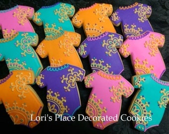 Arabian Baby Shower Cookies - Henna Baby Shower Cookies - 12 Cookies