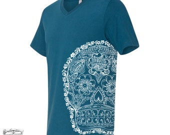 Unisex V-Neck Day of the DEAD 2 T Shirt vintage soft xs s m l xl xxl (+ Colors)