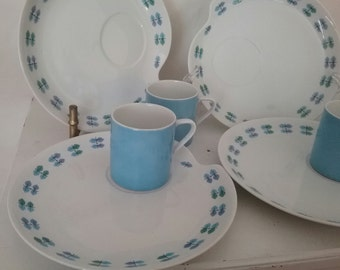 Caribou Snack Sets  Mid Century cute Pattern Blue, Periwinkle and Green
