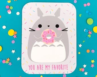 You Are My Favorite Totoro & Donut Card