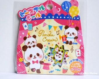 Mind Wave Sticker Flakes - Cute Panda - 71 Pieces (78368)