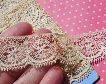 Vintage Lace Trim Cluny Lace Cotton Lace Scalloped Picot Edge