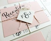 Reserved for Meaghan Turk, Balance of Angled Script Invitations and Accessories