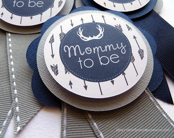 Deer Baby Shower, Mom Pin, Baby Shower, Free Customization - Custom Color Combo