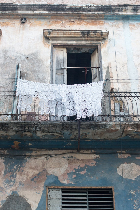 Cuba Photography, Laundry Days in Havana Cuba, Turquoise, Caribbean Blue, Travel Photography, Color Photography, Old Havana, Visit Cuba