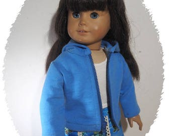 18 inch Dolls Clothes -   Girl Dolls  Clothes - Hoodie