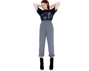 beautiful slate grey PENDLETON WOOL TROUSERS / vintage pendleton pants wool pants high waisted pants dress pants
