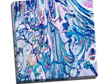 "Liquid Art #9 Abstract Art Canvas - 16""x20"" or 20""x20"" - 1-1/4"" Thick Bar Gallery Wrapped Canvas - Artstudio54 - Liquidart54"