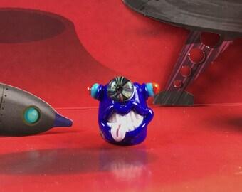 Blue blue one eyed grinner for dreadlocks
