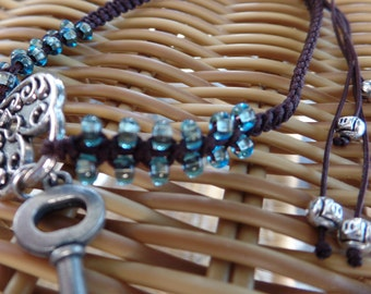 Lock and key anklet, lock and key jewelry