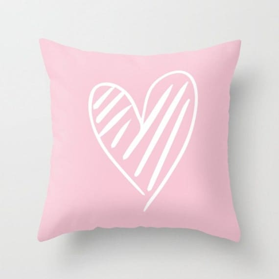 "The Scribbled Heart Pillow 18"" Pillow Cover 