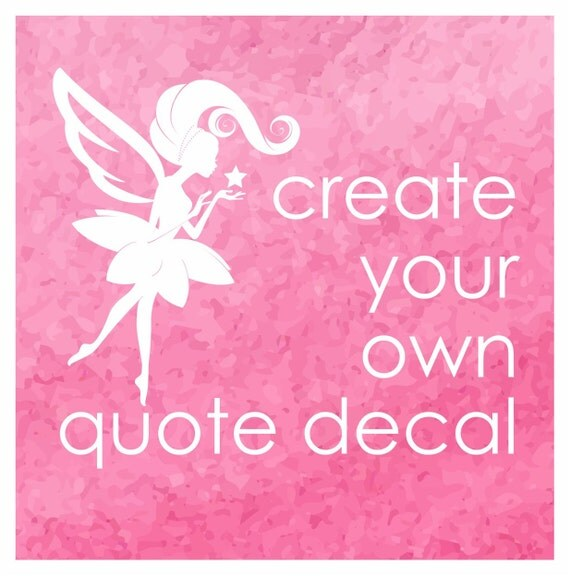 Wall Vinyl Design Your Own : Create your own wall decal quote laptop word