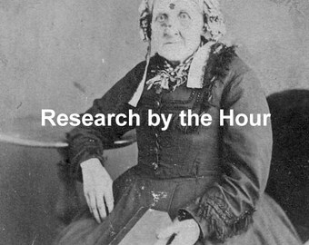 By the Hour Online Genealogy Research for Canada, USA and England / Family Tree Research / Life Story / Custom Order for Your Family History