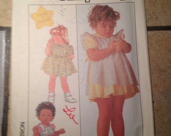Simplicity 8993 Size 1/2 to 1 Toddlers' Dress and Pinafore Pattern UNCUT