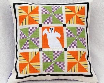 14010 Pinwheel Halloween Quilt Cross Stitch PDF Pattern - DIGITAL DOWNLOAD
