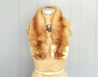 Sable Genuine Fur Collar / 1960s scarf