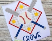 Machine Embroidery Design Embroidery Bats Ball Plate INSTANT DOWNLOAD