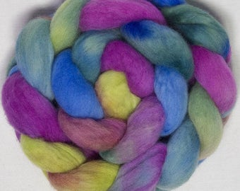 Corino combed tops, Falkland Merino, Corriedale, Hand painted spinning wool, fibre, felting, spindle, roving, fibre, fiber, Giverny